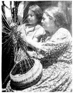 Ann Burk teaches basket making (1941)
